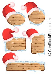 Winter Christmas signs collection 1