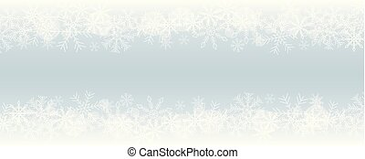 winter christmas snowy border blue background