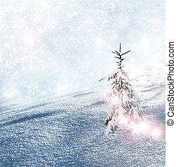 Winter. Christmas tree