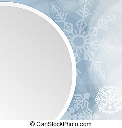 Winter christmas white button vector