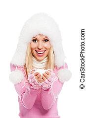 winter christmas woman