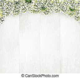 Winter christmas wooden background.