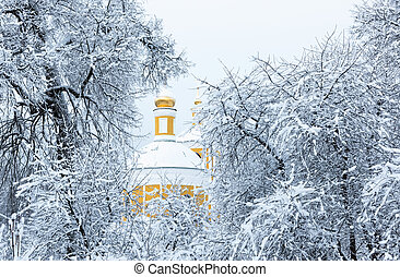 winter church snow