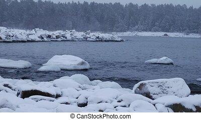 winter coasline of baltic sea