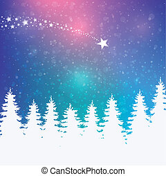 winter colorful snowy background