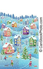 Winter composition vertical