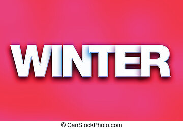 Winter Concept Colorful Word Art