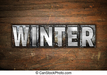 Winter Concept Metal Letterpress Type