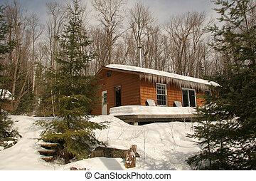 Rustic Cottage in Winter - Haliburton, Ontario