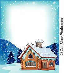 Winter cottage theme image 3