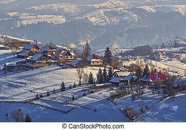 Winter countryside landscape