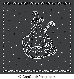 Winter cup of hot chocolate