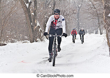 winter, cycling