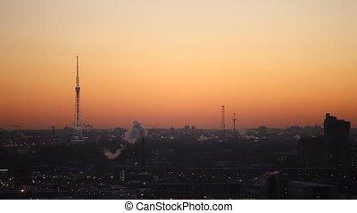 Winter dawn over St. Petersburg, RF