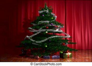 winter, december, christmas tree