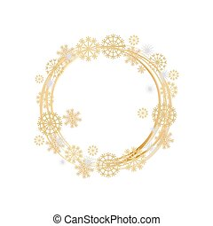 Winter Decorative Frame with Frozen Element Vector - Border...
