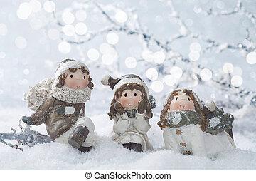 winter, dekoration