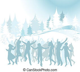 Christmas composition - winter design, Christmas composition...