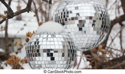 Winter disco balls.