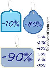 Winter discount illustration vector