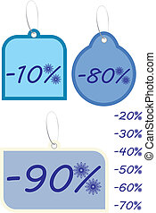 Winter discount illustration vector