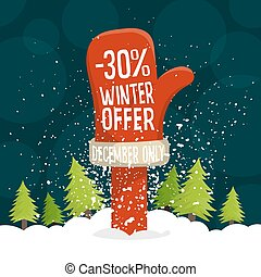 Winter discount label