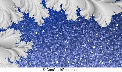 Winter dynamic background Loop - Loopable abstract fractal...
