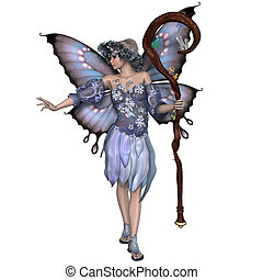 Winter Fairy - A fairy is a mythical creature of folklore...