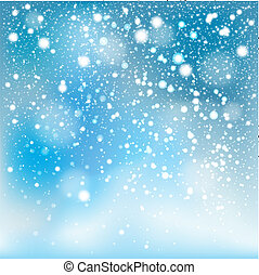 Winter falling snow background.