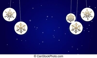 Winter falling snow Loop Animation background for Christmas and New Year 4K
