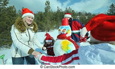 Winter family dance