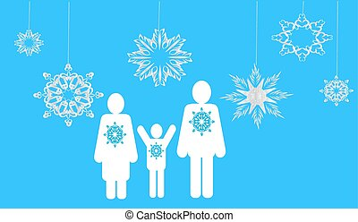 winter family. Web icons
