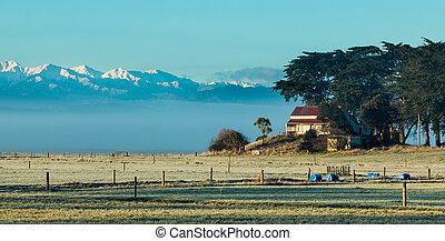 Winter Farm House