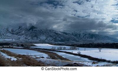 Winter Farmland Time-lapse