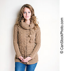 Winter fashion girl.