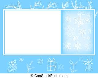 winter, feestdagen, kaart