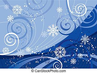 winter, feestdagen, (vector)
