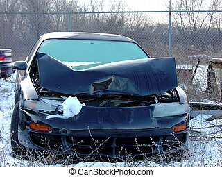 winter fender bender - car