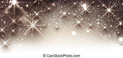 Winter festive luminous banner. - Winter festive luminous...
