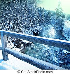 winter, flüßchen