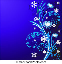 winter floral background with flowers