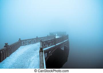 fog and zigzag bridge