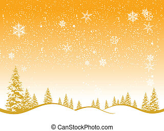 Winter forest, christmas background for your design