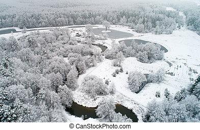 Scenic winter day