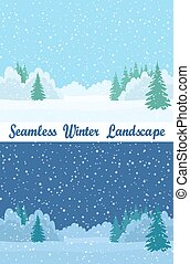 Winter Forest, Seamless Landscapes