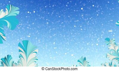 Winter fractal motion background