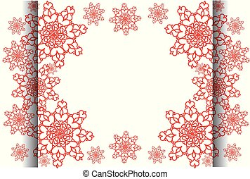 Winter frame with snowflakes. Place for your text.