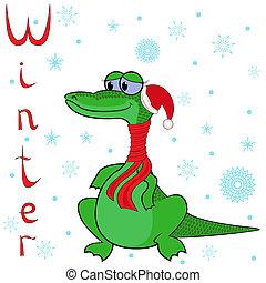 winter?, froid, ainsi, pourquoi, crocodile