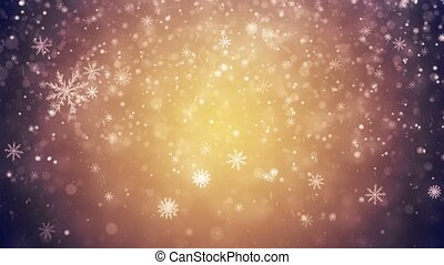 Winter frozen background with falling snowflakes