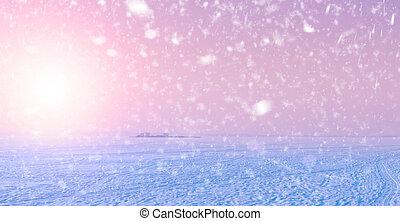 Winter Frozen Sea